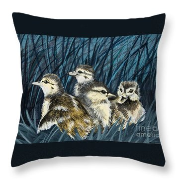 Throw Pillow featuring the painting Spring Is Right Around The Corner by Jennifer Lake