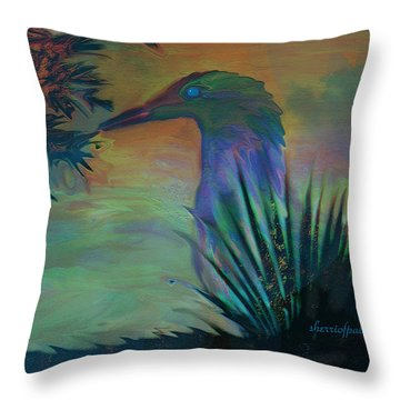 Throw Pillow featuring the painting I Am Just So Pretty by Sherri  Of Palm Springs
