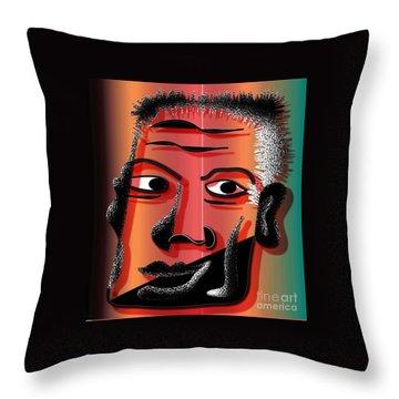 I Am Man Throw Pillow by Iris Gelbart