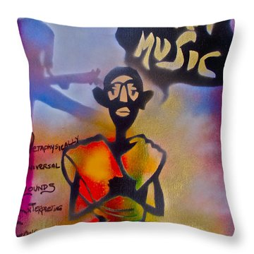 I Am Music #1 Throw Pillow by Tony B Conscious
