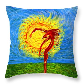 I Am Ra Throw Pillow by Jeremy Martinson