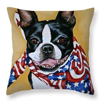 I Am Sam Throw Pillow by Susan Herber