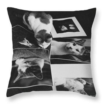 I Am So Photogenic Throw Pillow by Suzanne Szasz