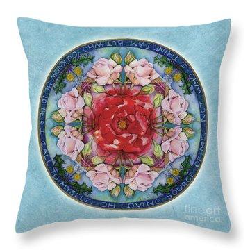 I Am That Mandala Throw Pillow