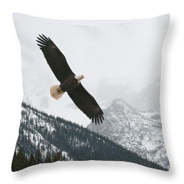 I Am The Eagle Throw Pillow