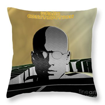 I Am Under Construction Throw Pillow