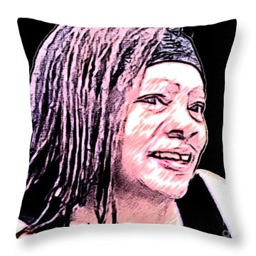 I Aspire To Be Throw Pillow by Jacqueline Lloyd