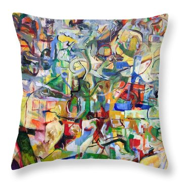 I Believe This And Understand It Fully Well 7 Throw Pillow by David Baruch Wolk