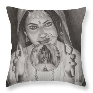 I Can See The Future Throw Pillow by Amber Stanford