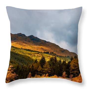 I Cant Forget This Light. Scotland Throw Pillow by Jenny Rainbow