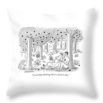 I Can't Help Thinking There's A Book In This Throw Pillow