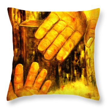 Throw Pillow featuring the painting I Chose You by Hazel Holland
