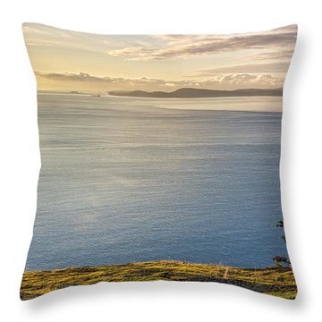 I Climbed To The Horizon Throw Pillow