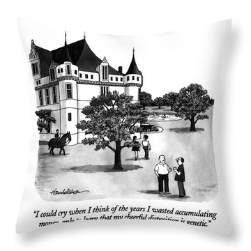 I Could Cry When I Think Of The Years I Wasted Throw Pillow