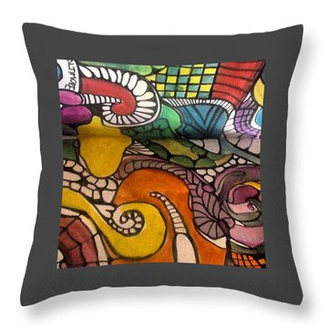 Life Is Better In Color Throw Pillow