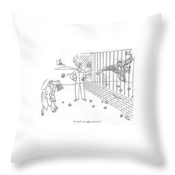 I Don't Care Who Started It Throw Pillow by George Price