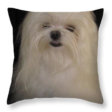 I Dont Like Topknots Throw Pillow by Margaret Newcomb