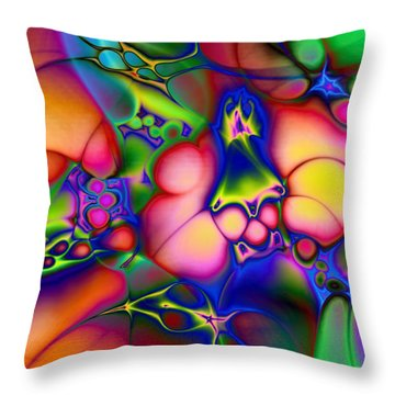 Throw Pillow featuring the digital art I Don't Think We're In Kansas Anymore by Casey Kotas