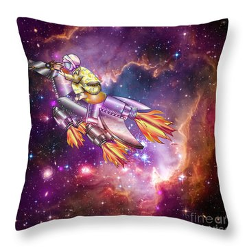 I Dream Of Rockethorse Throw Pillow