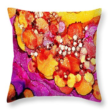 Throw Pillow featuring the painting I Dream Of Sunflowers by Angela Treat Lyon