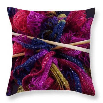 I Feel Frilly Throw Pillow by Ginny Schmidt