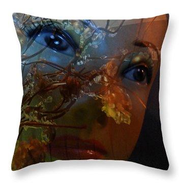 I Feel The Autumn Throw Pillow