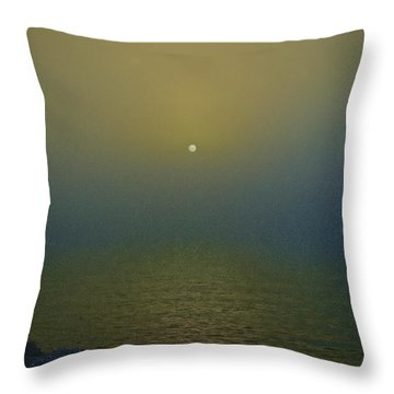 Throw Pillow featuring the photograph I Get Misty by Joseph Hollingsworth