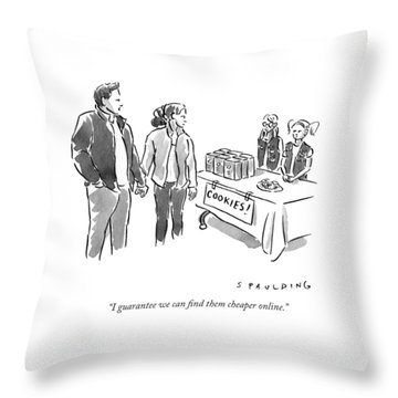 I Guarantee We Can Find Them Cheaper Online Throw Pillow