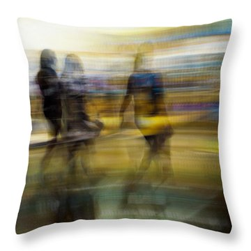 Throw Pillow featuring the photograph I Had A Dream That You And Your Friends Were There by Alex Lapidus