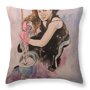 I Hate Women's Work Throw Pillow by Esther Newman-Cohen