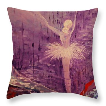 Throw Pillow featuring the painting I Have A Dream by AmaS Art