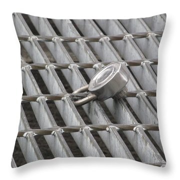I Have A Lock On You Throw Pillow by Alfred Ng