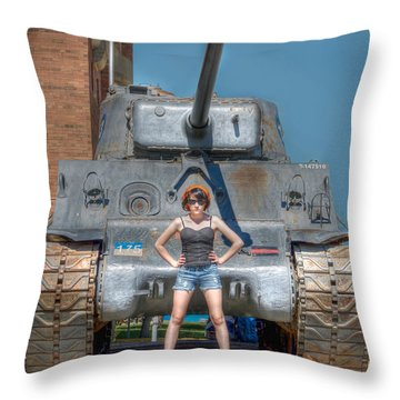 I Have A Tank.  Your Argument Is Invalid Throw Pillow by Lisa Knechtel