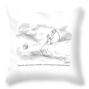 I Have The Whole Universe To Look Throw Pillow