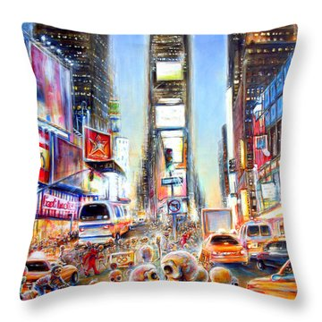 I Heart Ny Throw Pillow