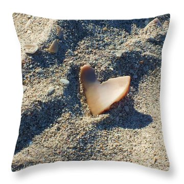 I Heart The Beach Throw Pillow by Anna Villarreal Garbis