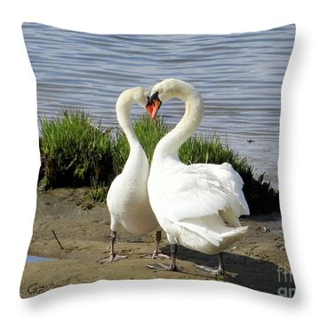 I Heart You Throw Pillow by Ed Weidman