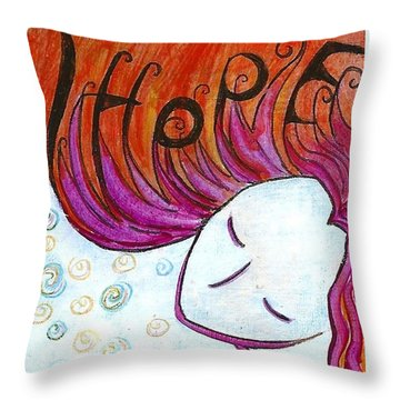 I Hope Throw Pillow by Gioia Albano