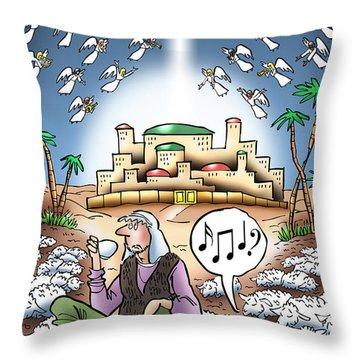 I Keep Hearing Music Throw Pillow