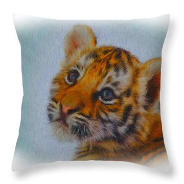 I Know I Am Cute Throw Pillow by Tyler Robbins