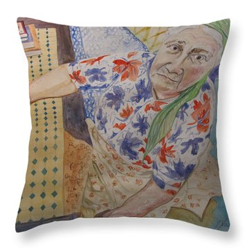 I Know I'm Right  Throw Pillow by Esther Newman-Cohen