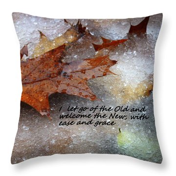 Throw Pillow featuring the photograph I Let Go by Patrice Zinck