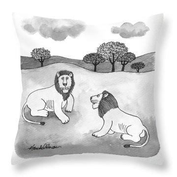 I Like That - 'compassionate Predators.' Throw Pillow