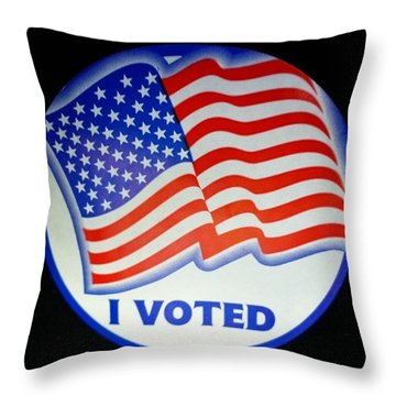 I Voted Throw Pillow