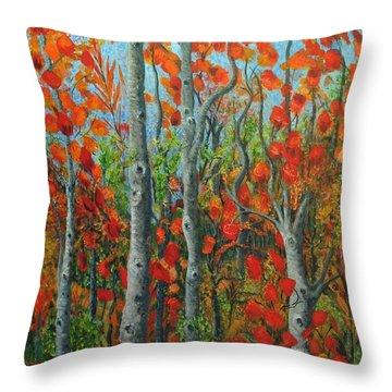 I Love Fall Throw Pillow by Holly Carmichael