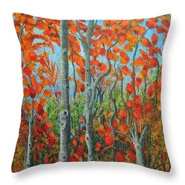 I Love Fall Throw Pillow