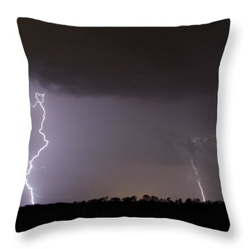 I Love Lightning Throw Pillow by John Crothers