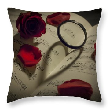 I Love Music Throw Pillow by Amber Kresge