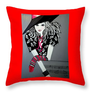 I Love Rock And Roll Throw Pillow