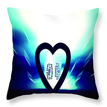I Love Seattle Seahawks Throw Pillow